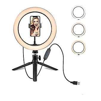Lumină cu suport - Inel selfie cu cameră led