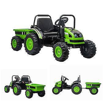 ES-Toys Kids Electric Tractor 388 con remolque 2 motores eléctricos Reproductor de mp3 USB