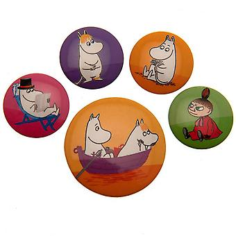 Moomin Buttons Badge Set (Pack of 6)