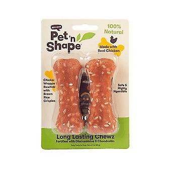"Pet 'n Shape Long Lasting Chewz Bone - 4"" Long (2 Pack)"