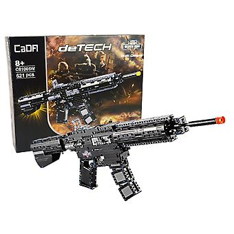 CaDA Katonai puska M4A1 - Építőkészlet - 621 Építőelemek - 70 cm