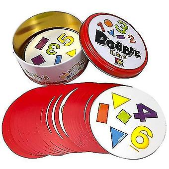 Card games 8+ dobble spot it cards game with animals  alphabets and numbers f