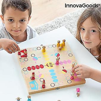Science exploration sets wooden table set with animals pake 18 pieces