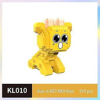 Деревянные блоки мультяшная кукла большой палец модель строительные блоки diy сборка строительство детские игрушки|блоки желтый
