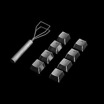 Rozsdamentes acél irány nyíl gombsapkák cseresznye mx kapcsoló mechanikus játék billentyűzet qwerasdf