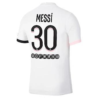 2021-2022 Messi Psg træningstøj ude trøje nr. 30 Voksen størrelse