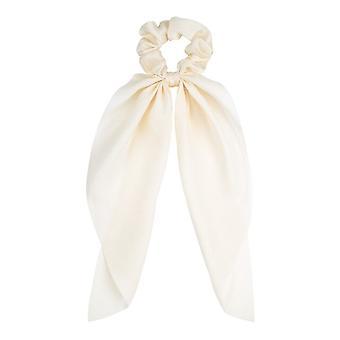 3,7 Inches solid colors streamers Bow Scrunchie elastic hair bands kvinder piger søde hår reb bånd hovedbeklædning hår tilbehør