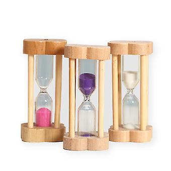 3pcs 1/3/5 Minutes Wooden Hourglass Timer Multifunctional And Practical Home Decoration Children's Game Timing Tool Birthday Gift