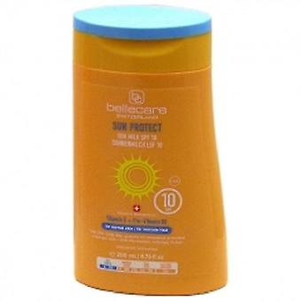 3 x BELLECARE solar leche SPF 10 piel NORMAL 3 X 200ml vitamina E Pro-vitamina B5