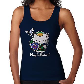 Hey Listen Link Hello Kitty Zelda Women's Vest