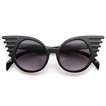 Designer inspirert mote eksentriske unike runde sirkelen Winged solbriller