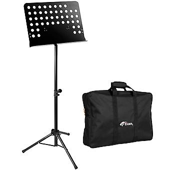 Tiger Orchestral Music Stand & Bag Pack, Heavy Duty All Metal