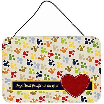 Hunde lassen auf dein Herz Wand oder Tür hängen Drucke pawprints
