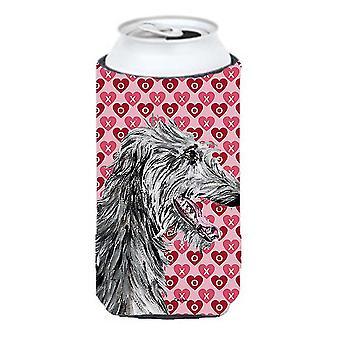 Scottish Deerhound Hearts and Love Tall Boy Beverage Insulator Hugger