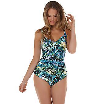 Seaspray 13-2345 vrouwen Monteverde groen en blauw badpak vormgeven