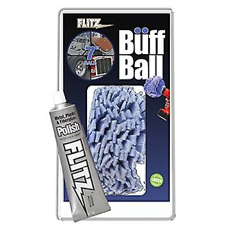 Flitz WB201-50 Blue X-Large Original Buff Ball in Clamshell, 7-Inch