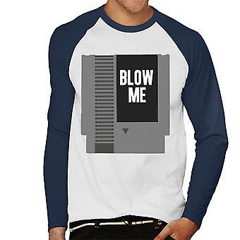 NES patron Blow Me férfiak ' s baseball hosszú ujjú póló