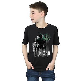 Star Wars jungen Gauner ein K-2SO Blick T-Shirt
