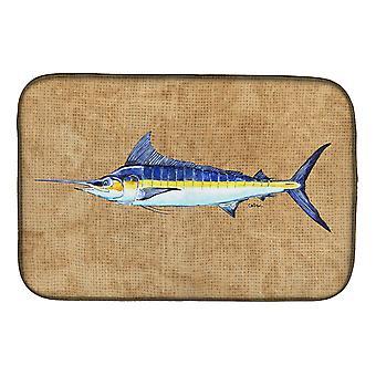 Carolines Treasures  8818DDM Blue Marlin Dish Drying Mat