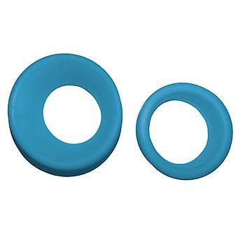 Inserciones de tijera de goma suave profesional del novio para un mejor ajuste, azul cian