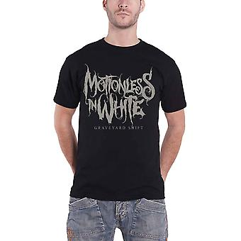 Motionless In White T Shirt Graveyard Shift Band Logo new Official Mens Black