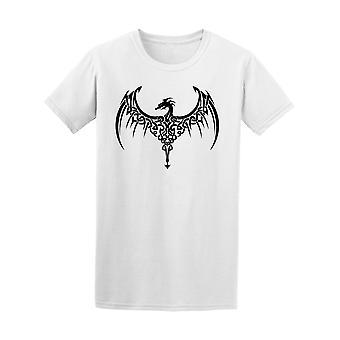 Celtic Dragon Wings tatuointi Tee Men-kuva: Shutterstock