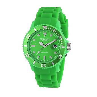 Candy tijd door Madison N.Y.. horloge unisex U4167-10-1 groen