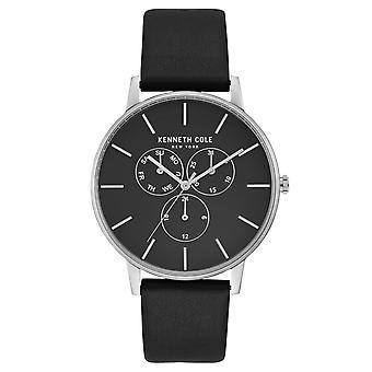 Kenneth Cole New York mannen pols horloge analoog kwarts leder KC50008001