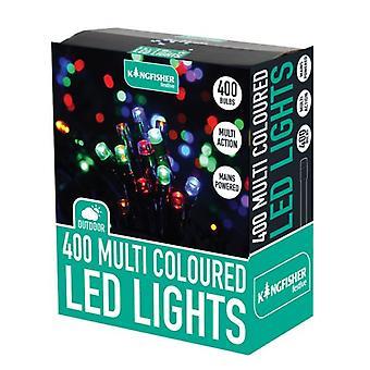 400 Multi colorido Multi ação Natal Natal decoração interior ou exterior luzes LED
