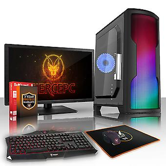 Felle CYPHER Gaming PC, snelle Intel Core i7 8700 K 4.5 GHz, 1 TB HDD, 8 GB RAM, GTX 1050 2 GB