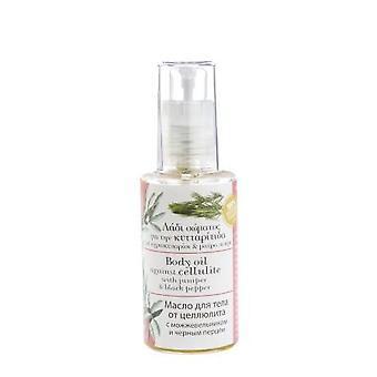 100% olio naturale del corpo contro la cellulite da Evergetikon. 60ml.