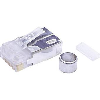 Modulaarisella pistokkeella asettaa suojattu Cat 5 Kytke suoraan nastojen määrä: 10P10C 940-SP-361010-A217 lasimainen BEL Stewart liittimet 940 SP 361010 A217 1 PCs()