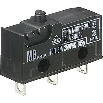 Hartmann Microswitch MBF5A 250 V AC 10 A 1 x On/(On) momentary 1 pc(s)