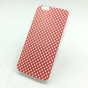 Cas de téléphone portable pour Apple iPhone 6 s plus polka dot rouge Housse étui + 1 x verre de protection réservoir