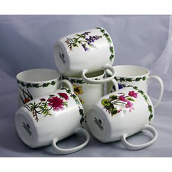 English Bone China Mugs Set of 6