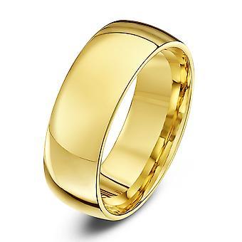 Tähti vihkisormuksista 9ct keltainen Gold valo tuomioistuin muoto 7mm vihkisormus