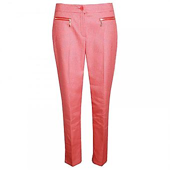 Marie Mero Geometric Print Straight Leg Trousers