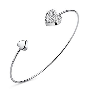 Oliver Weber Bangle Kiss Rhodium Crystal