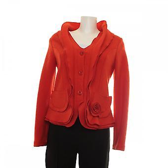 Latte Rose Pocket Detail Wool Jacket