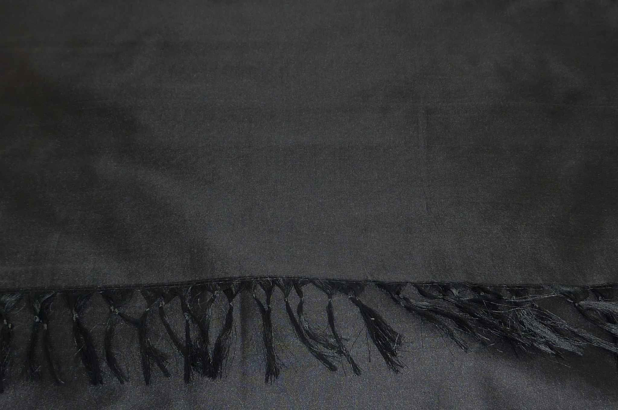 Varanasi Silk Long Scarf Heritage Range Nara 5 Black by Pashmina & Silk