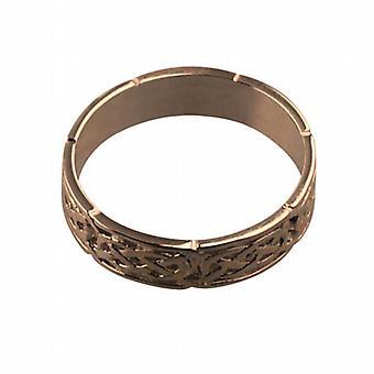 9ct Rose Gold 6mm Celtic Wedding Ring Size Z