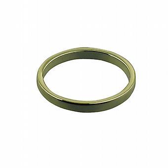9kt guld 2mm almindelig flat Wedding Ring størrelse Pedersen