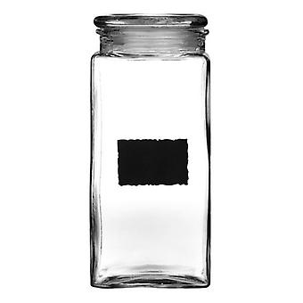 Glass and Chalkboard Storage Jar 2.1L With Chalk Board Panel