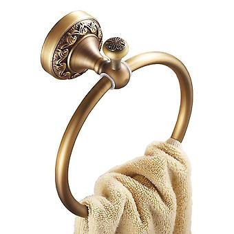 Antique Brass Bathroom Toilet Round Towel Ring Dressing-Gown Wall Mounted Hanger