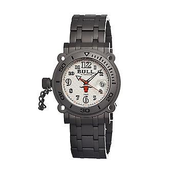 Bull Titanium Longhorn Men's Swiss Bracelet Watch - White