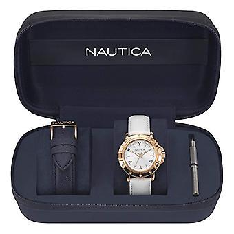 Nautica watch Analogueico quartz ladies watch with leather NAPPRH009