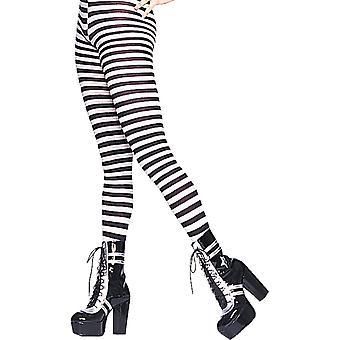 Tights Striped Black White