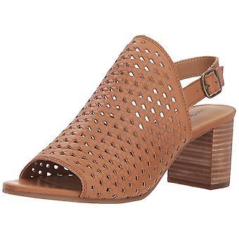 Marca suerte mujeres Verazino cuero Open Toe Slingback Casual sandalias