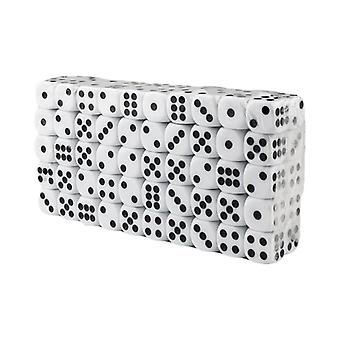 Six-sided dice, 100 pcs-White