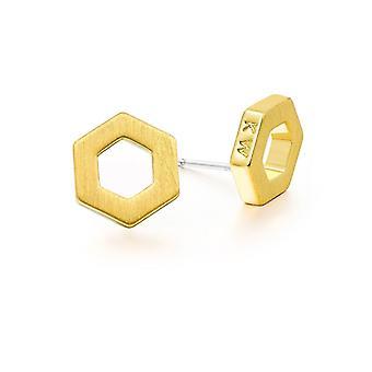 Kaytie Wu Gold Plated Hexagon Earrings 28046